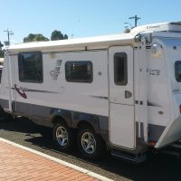 Semi off road Caravan and 4WD