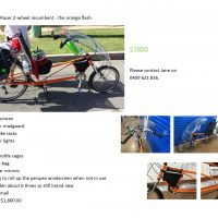 For Sale - Easy Racer 2-wheel recumbent bicycle